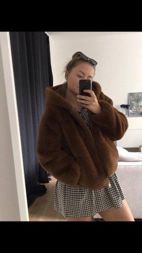 Zara Veste en fausse fourrure brun