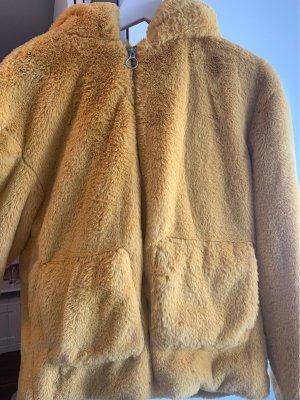 C&A OUTERWEAR Pluszowa kurtka złotopomarańczowy