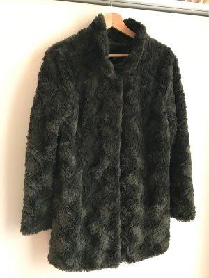 Flauschige Jacke (grün)