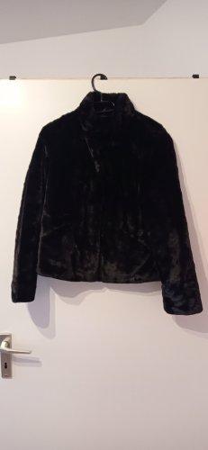 flauschige Jacke in Felloptik