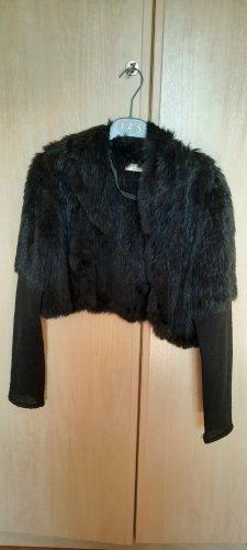 Apanage Veste en tricot noir lin