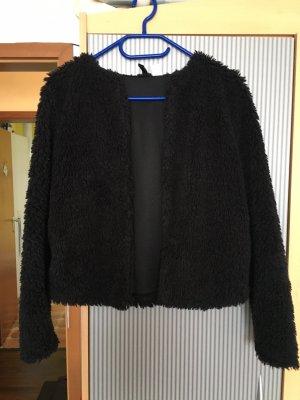 H&M Divided Giacca di pelliccia nero