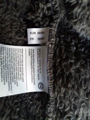 Giacca in pile grigio-marrone-grigio Poliestere