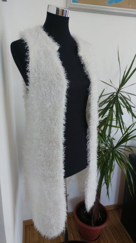Janina Gilet long tricoté blanc-blanc cassé