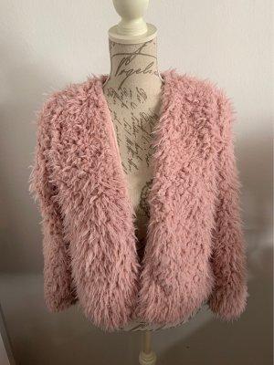 H&M Smanicato in ecopelliccia rosa