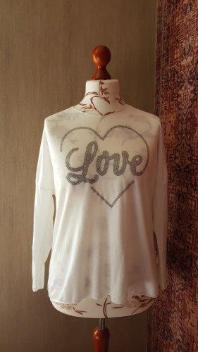 Made in Italy Koszulka z dzianiny biały