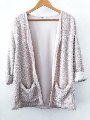 Vintage Pull kimono beige clair-blanc cassé