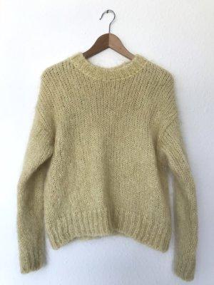 H&M Pull en laine jaune clair-jaune primevère