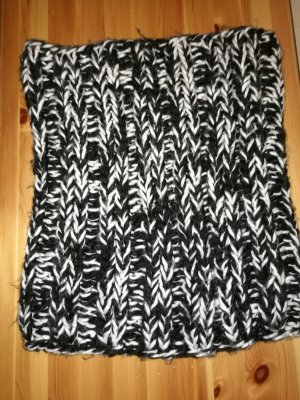 H&M Tubesjaal wit-zwart