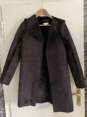 H&M Abrigo de piel negro