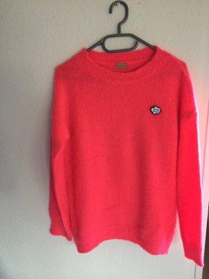 Flauschiger Pullover von Odeon neon rot neu ohne Etikett Gr. S