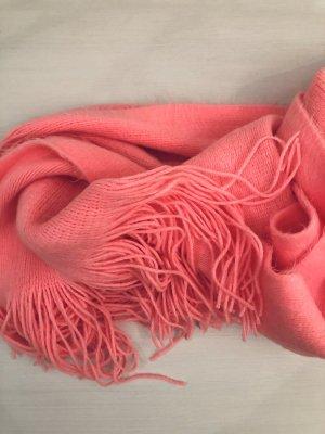 Flauschiger Schal in neonpink - NEU