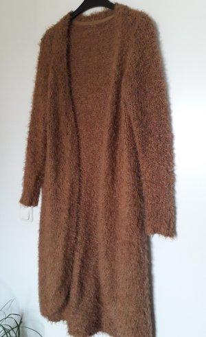 New Look Gebreide jas lichtbruin