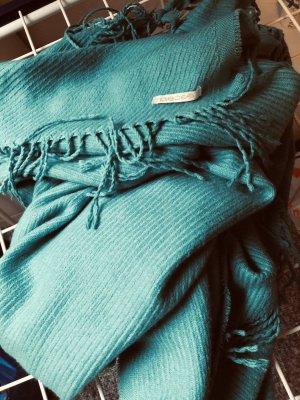 Pieces Bufanda de lana turquesa-azul cadete