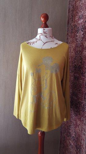 Made in Italy Koszulka z dzianiny limonkowy żółty