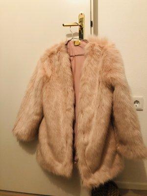 H&M Futrzana kurtka różany