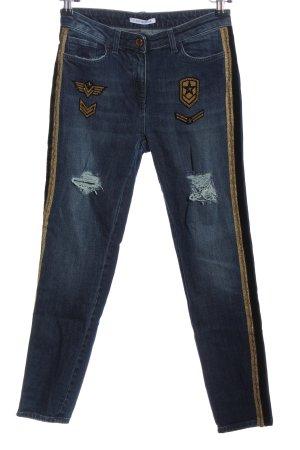 Flavio Castellani Tube jeans blauw casual uitstraling
