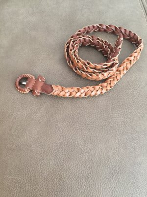 Braided Belt light brown-brown
