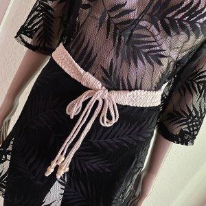 Bijou Brigitte Cinturón trenzado beige claro