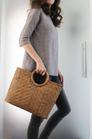 Bolso tipo cesta marrón claro-marrón