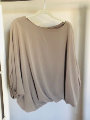 Fledermaus-Bluse in taupe one size