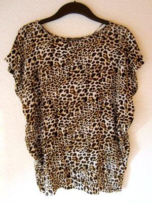 Fledermausärmel-Bluse mit Leoparden-Print