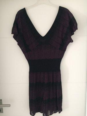 Orsay V-hals shirt zwart-paars
