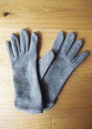 Fleece Gloves light grey-grey