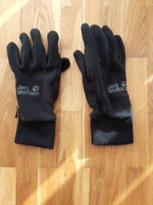 Jack Wolfskin Fleece handschoenen zwart Polyester