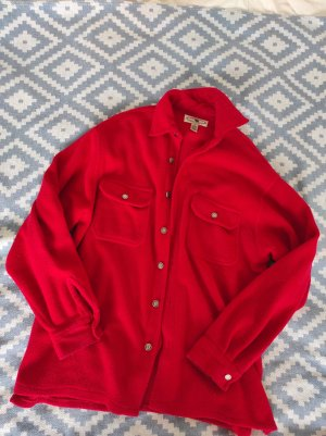 Fleece Jackets red-brick red polyester