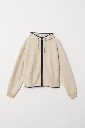 H&M Fleece jack room-beige