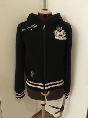 HV Polo Chaqueta estilo universitario negro