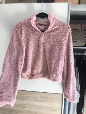 Fleece Kuschelpullover Cropped