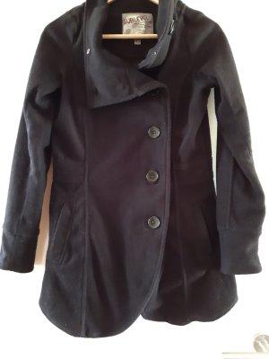 Cappotto in pile nero