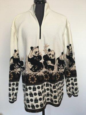 Miss Helen Polarowy sweter czarny-biały