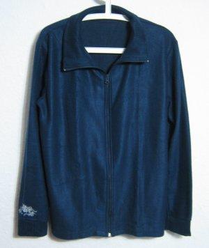 Fleece Strickjacke Größe L/XL Blau Tribals