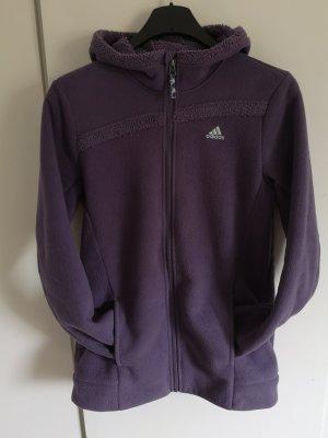 Adidas Fleece Jackets grey violet-pale blue