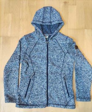 McKinley Veste polaire blanc-bleu foncé