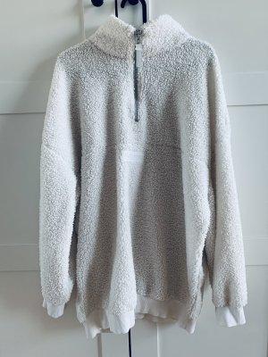 H&M Kurtka polarowa w kolorze białej wełny