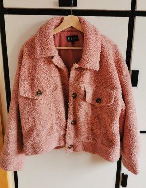 Fleecejacke teddyfleece Jacke kurze pink ZARA
