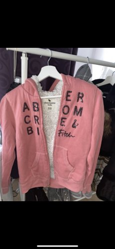Abercrombie & Fitch Fleece Jackets pink