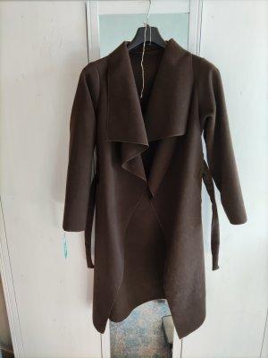 Unbekannte Marke Manteau polaire brun-brun foncé