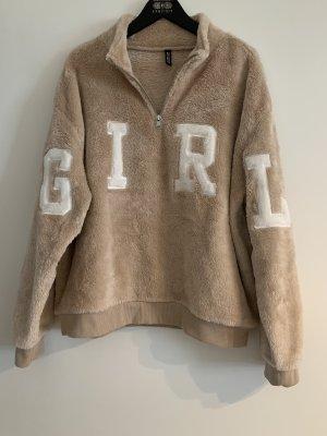 H&M Divided Polarowy sweter piaskowy brąz-beżowy