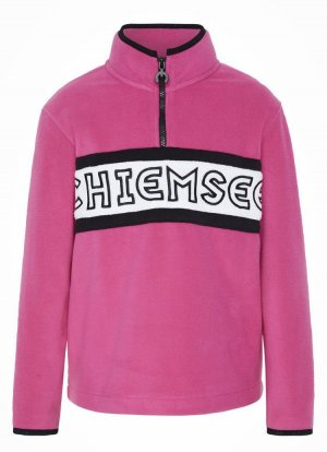 Chiemsee Fleece trui roze-wit
