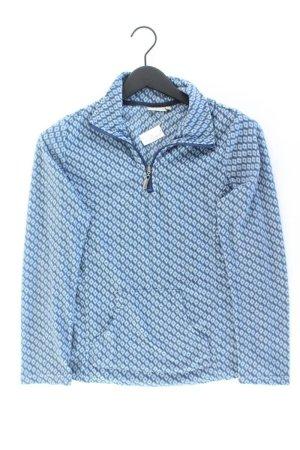 Pull polaire bleu-bleu fluo-bleu foncé-bleu azur polyester