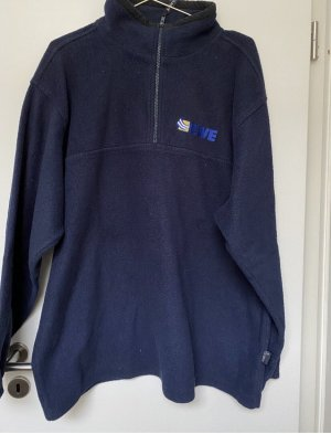 Vintage Pullover in pile blu scuro