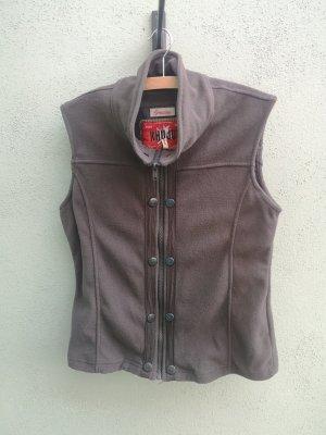 Khujo Fleece Vest taupe-brown