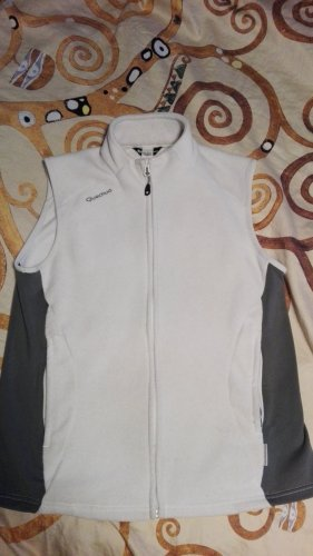 Decathlon Gilet polaire blanc
