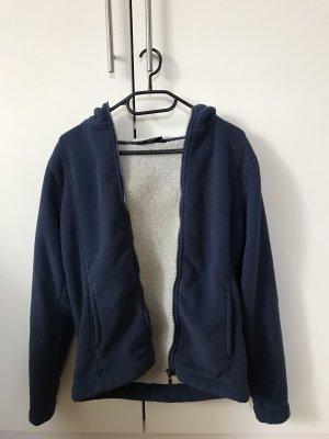 tchibo Fleece vest wit-donkerblauw Polyester