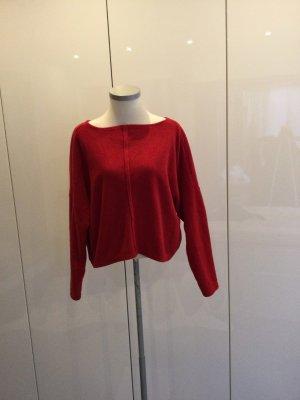 Polarowy sweter ceglasty Poliakryl